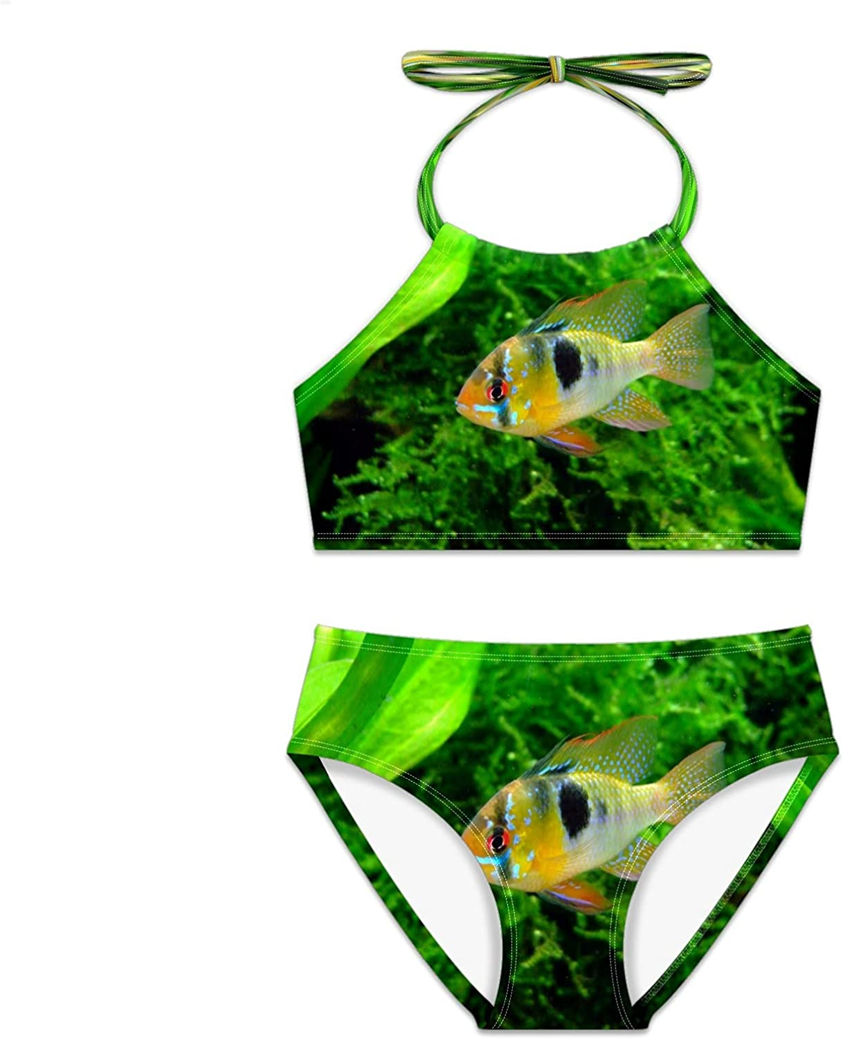 Girls Swimsuit Butterfly Cichlid Fish Water Bikini free shipping Pieces Se Detroit Mall Two