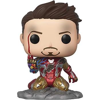 Funko Pop! Avengers Endgame: I Am Iron Man Glow-in-The-Dark Deluxe Vinyl Figure, Multicolored
