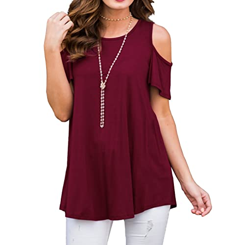 11808a2fdd7 Women's Cold Shoulder Tops: Amazon.com