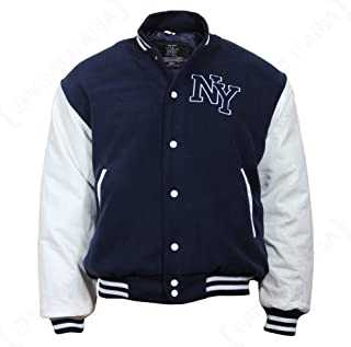 Mil-Tec NY Baseballjack met patch, zwart/wit