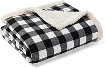 Eddie Bauer Home   Flannel Collection   Throw Blanket-Reversible Sherpa Fleece Cover, Soft & Cozy, Perfect for Bed or Couc...