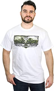 Harley-Davidson Mens Freedom Fighter Motorcycles White Short Sleeve T-Shirt