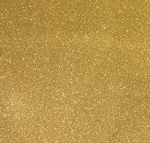 "Gold Glitter Cardstock - 10 Sheets Premium Glitter Paper - Sized 12"" x 12"" - Perfect for Scrapbooking, Crafts, Decorations, Weddings"