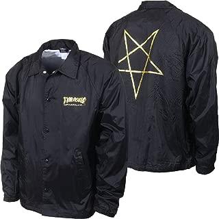 Thrasher Magazine Pentagram Coach Windbreaker Jacket - Black - XL