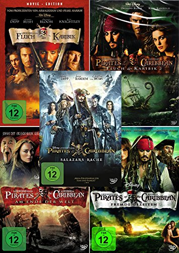 Fluch der Karibik 1 - 5 (Pirates of the Caribbean) Collection [5-DVD] Kein Box-Set