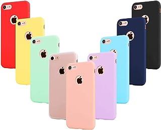 comprar comparacion Leathlux 9X Funda iPhone 7, Carcasa Ultra Fina Silicona TPU Protector Flexible Cover Funda para iPhone 7-4.7