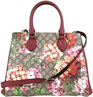 Women's Beige/Pink Bloom GG Supreme Canvas Large Crossbody Bag 453704 8693