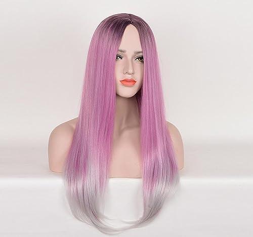 HAOBAO Perruque pour Cheveux féminin Nouvelle Perruque à Cheveux Longs et résistants à la Chaleur pour Costumes de Parcravate Cosplay (Rose)