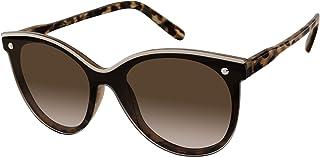 يو.اس. بولو اسن . نظارات شمسية نسائية PA5031 Cat-Eye Shield مع حافة علوية المينا وحماية من الأشعة فوق البنفسجية بنسبة 10...