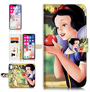 (for iPhone XR) Flip Wallet Case Cover & Screen Protector Bundle - A21618 Snow White