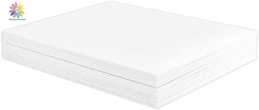 """Mat Board Center, Pack of 10 Foam Boards, 11x14 inch (Many Sizes Available) 1/8"""" Thick, White Foam Core Backing Boards (Ac..."""