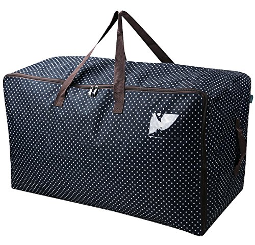 iwill CREATE PRO 27.5 X 16.5 X 13.8, 3-Side Zip Open Storage Bag with Handles for Christmas Trees,Out String Lights,Ballons,Party Balls, Black Dots
