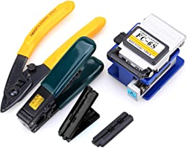 Optical Fiber Tool Kit Cold Connection tool Optical Fiber Stripping Cleaver for SUMITOMO with 36000 Cleaves and Fiber Optic Drop Cable Fiber Stripper CFS-2 Double Port Hole