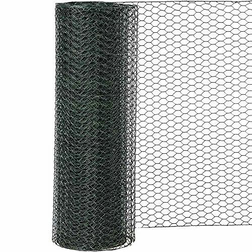 Siena Garden Sechseckgeflecht PVC, 25 x 1000 mm x 10 m, 1 Stück, grün, 457565