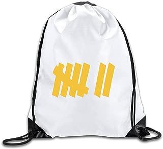 Strength In Numbers 7 Drawstring Backpack Bag Gym Sack