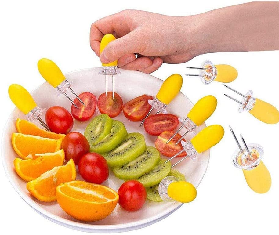 Zongha Brochettes pour Barbecue Alimentaire Brochettes Brochettes pour Brochettes De Fruits BBQ Kebab Bâtons Brochettes pour Grill Kebab Brochettes Green Colorful