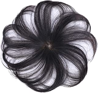 ALEXTREME Wig Hair Topper Clip-On Wig Human Hair Hairpiece Hair Extension Short Hair Wig for Women Ladies