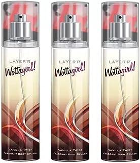 Layerr Wottagirl Vanilla Twist Perfume Body Spray Pack of 3 Combo (135ML each) Perfume Body Spray - For Women (405 ml, Pac...