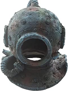 Emours Resin Diving Helmet Reptile Fish Hideout Cave Aquarium Fish Tank Decoration Medium