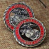 Cuerpo de Marines de los Estados Unidos Honor, Coraje y Compromiso Recuerdo Moneda Desafío Insignia de Medalla Coleccionable