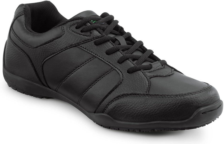 SR MAX Rialto Men's Black Slip Resistant Athletic Sneaker