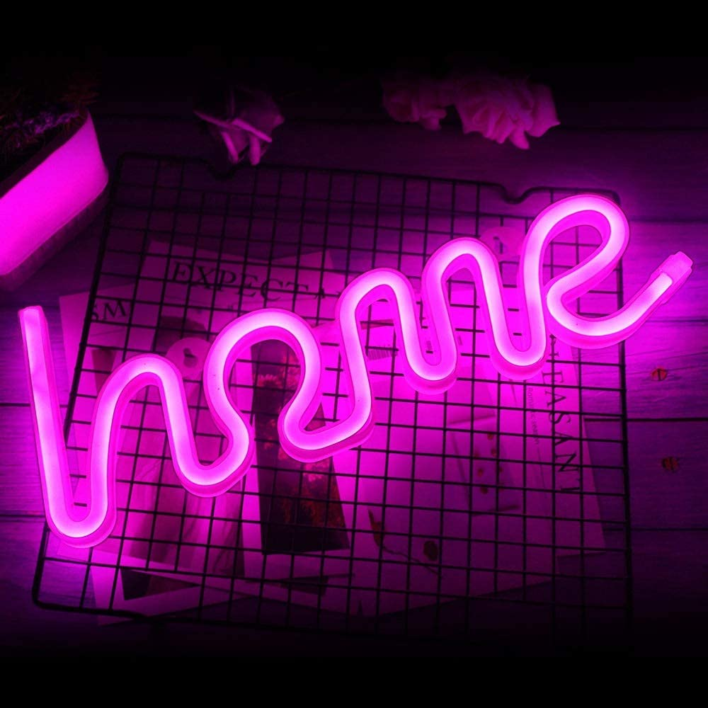 Neon Light Signs Warm Night for Sign Max 54% OFF Lightning Kansas City Mall B