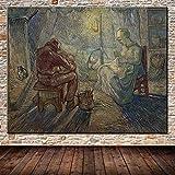 wZUN Pareja de mineros de Vincent Van Gogh en Lienzo Pintura al óleo Famosa Sala de Estar decoración del hogar Imagen 60x80 Sin Marco