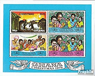 Ghana block67 (Complete.Issue.) 1976 Christmas (Stamps for Collectors) Christmas