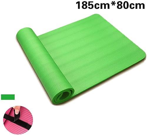 DENGSH Tapis d'exercice, tapis de mouvement polyvalent Pu et tapis de voyage antidérapant en caoutchouc naturel, facile à ranger vert.   1 20 mm.