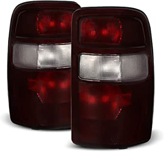 ACANII - For 2000-2006 Chevy Suburban Tahoe Yukon Red Smoke Tail Lights Lamps Set Replacement