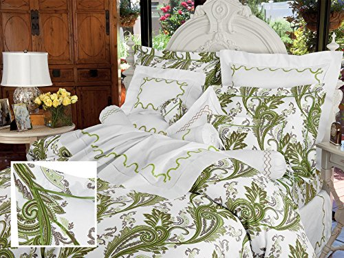 Check Out This Paisley Art, Sheet Sets, Queen (1 Flat, 1 Fitted, 2 Std. Shams) (Green)