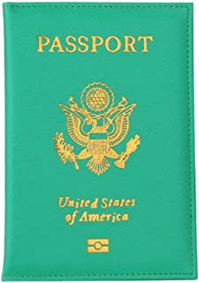 Passport Cover,Pocciol 2018 Newly Unisex Soft Touch Passport Holder Protector Business Card Cover Wallet (Green)