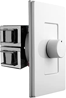 OSD Screwless Rotary Knob Volume Control 100W High Power Impedance Matching SLK100 Decra Style Wall Plate Snap On