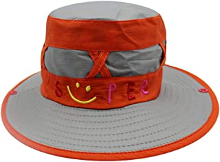 C.C-US Boys Girls Foldable Sun Hat UV Protection Rain Hat Bucket Hat with Wide Brim for Outdoor Hiking Fishing
