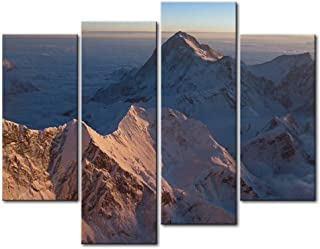 So Crazy Art 4 Panel Wall Art Painting Mount Everest Sunrise Sea Of Cloud Nountaintop Prints On Canvas The Picture Landscape Pictures Oil For Home Modern Decoration Print Decor For Bathroom