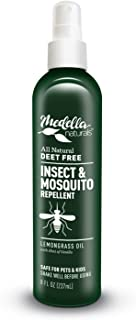 All Natural Insect Repellent by Medella Naturals, 8oz Bottle - Deet-Free Insect Repellent and Mosquito Repellent for Adults, Kids & Pets - Pump Spray Bottle, Ideal for Travel