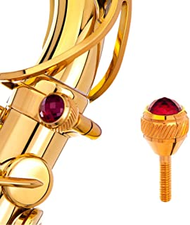 Saxophone Heavy Neck Screws KGUBrass, alto saxophone, tenor saxophone, soprano saxophone, baritone saxophone neck screws (135 Selmer,Yanagisawa,Jupiter,Couesnon, RawBrass+RedRubi Faceted)