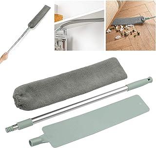 SIQDAK Cepillo Limpiador de Polvo de Mango Largo, Cepillo Pico para Eliminar el Polvo, Plumero de Microfibra para el hogar...
