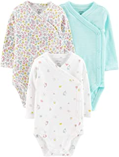 Baby Girls' 3-Pack Side-Snap Bodysuits