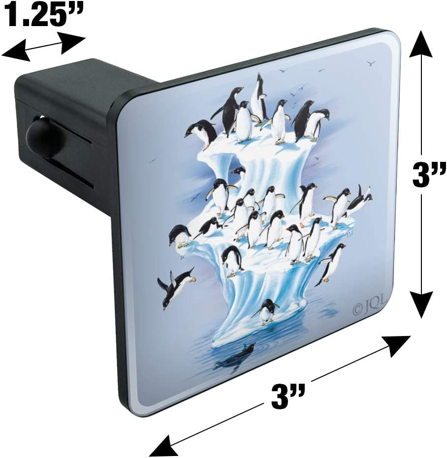Graphics and More Emperor Penguin Iceberg Antarctic Tow Trailer Hitch Cover Plug Insert