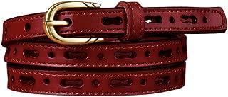 uxcell Women Perforated Design Single Pin Buckle PU Skinny Waist Belt