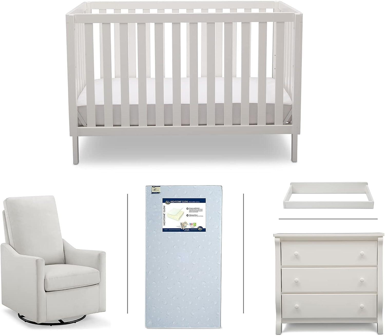 Serta Barrett 5-Piece Nursery Convertible C Set Max 77% OFF Furniture Max 72% OFF