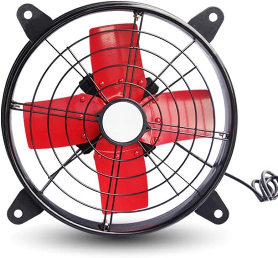 LJHA fengshan Ventilador eléctrico, Industrial de Alta Potencia, Extractor de Aire, Extractor, Cocina, fábrica, Gran Volumen de Aire, Humo, Extractor, Ventilador - Naranja/Rojo