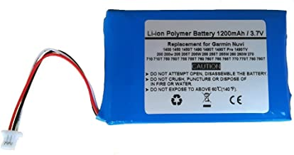 Replacement GPS Navigator Battery for Garmin Nuvi 1400 1450 1450T 1490 1490T, 1490T Pro, 1490TV