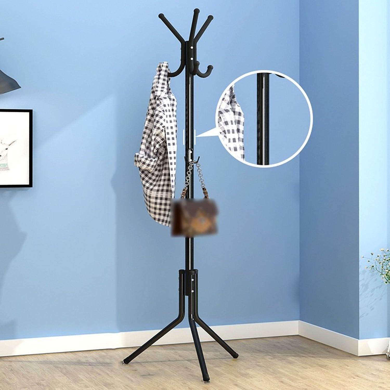 TIANTA- Simple Household Bedroom Economy Clothes Shelf, Floor Hanger, Simple Single-Pole Bag Rack, Coat Rack Home Furnishing (color   Black)