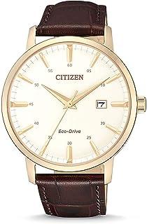 Citizen Orologio Analogico Eco-Drive Uomo con Cinturino in Pelle BM7463-12A