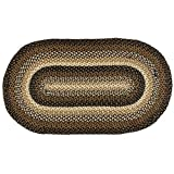 IHF Home Decor Stallion Oval Jute Braided Area Rug Floor Carpet Collection (36