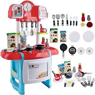 comprar comparacion deAO Cocinita Mi Pequeño Chef con Características de Sonidos y Agua Incluye Accesosrios de Cocina (Rojo)