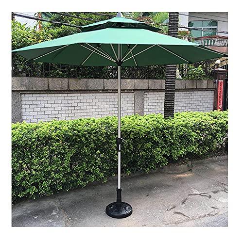 Lqdp Sombrilla Sombrilla de jardín con Poste de Aluminio, sombrilla de jardín con protección Solar con manivela y 8 Varillas, sombrilla Verde para Piscina