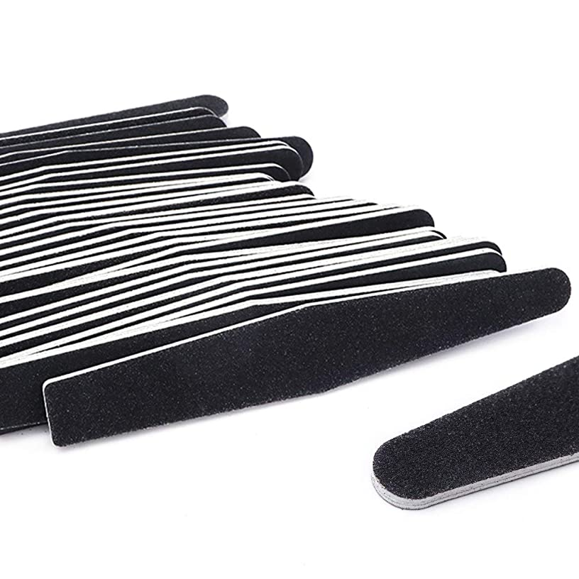エンゲージメントエンドウ長々と5ピース/ロット黒サンディングネイルアートファイルバッファグリットストレートエッジスティックdiy研磨ブロックネイルファイルセットマニキュアツールSA833